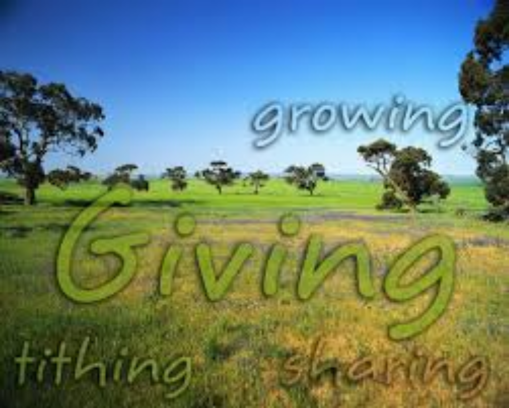 Growing Giving tithe & offering